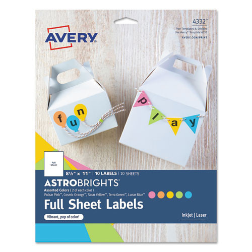 Avery Color Easy Peel Labels - AVE4332