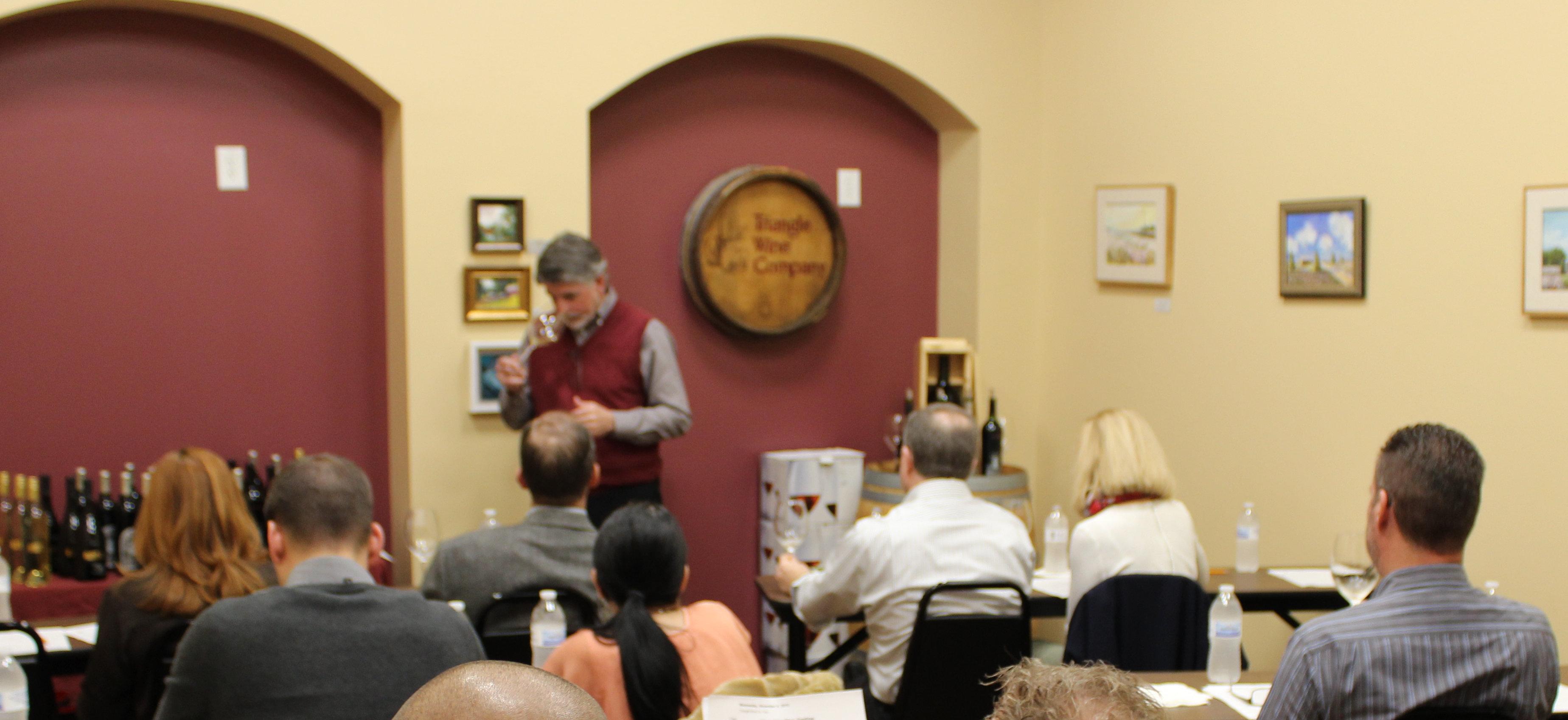 Local Wine Class Tasting Presentation Triangle Wine Company