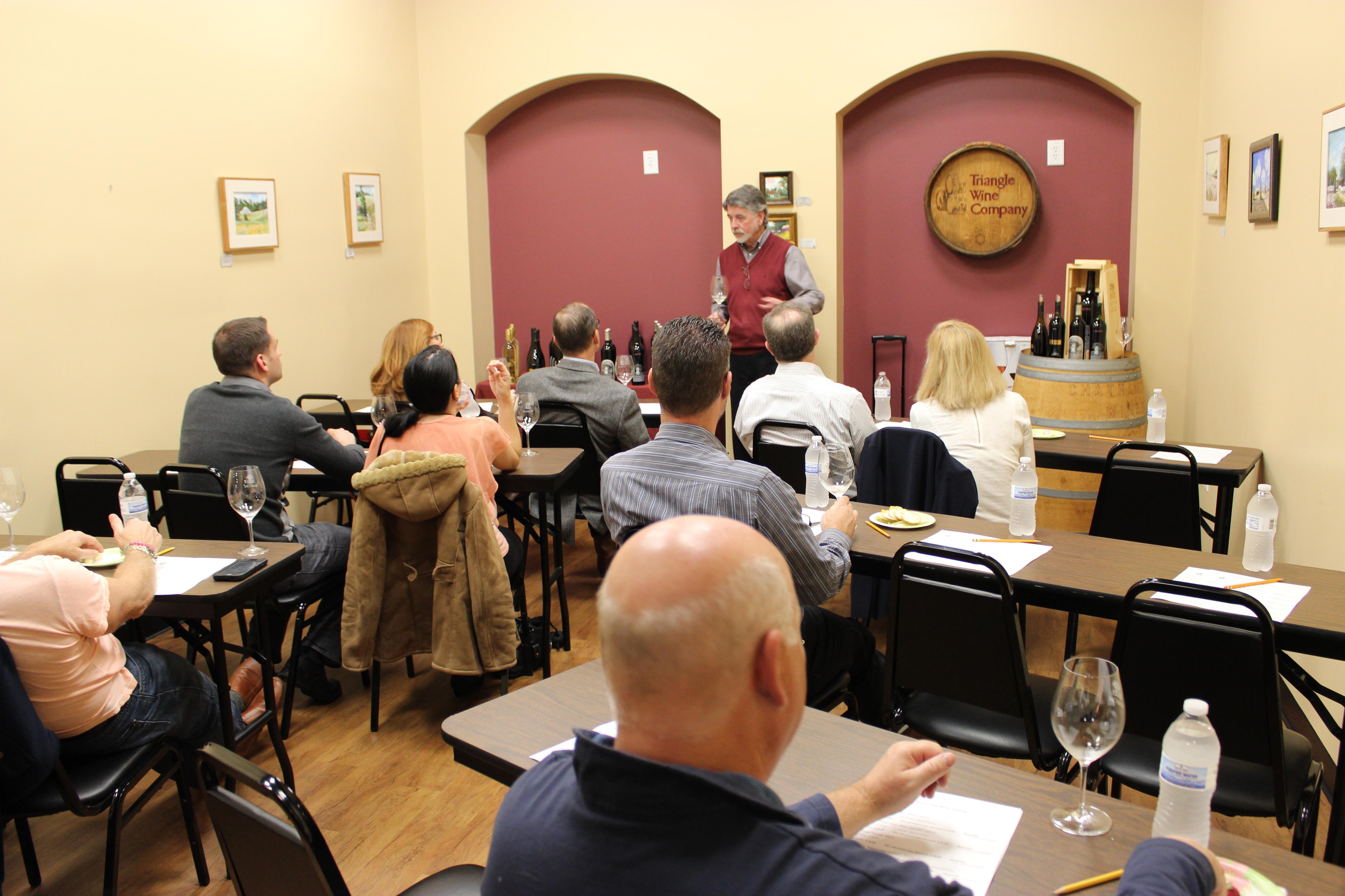 Triangle Wine Co. Cary Wine Tasting Class Room
