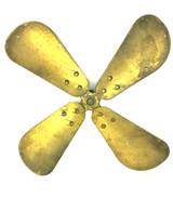 "Original 12"" GE Kidney Oscillator Brass Blade"
