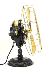 Restored 1902 General Electric Yoke Mount Pancake Desk Fan