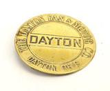 """Brass """"The Dayton Fan & Motor Co"""" Fan Badge"""