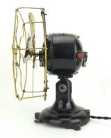 """8"""" Dayton Type 22 Brass Bladed / Cage (Guard) Desk Fan"""