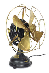 "1904 12"" GE Pancake Desk Fan ""Malden Electric Co."""