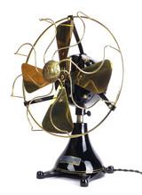 "Professionally Restored 1912 12"" ECK Tab Footed Desk Fan"