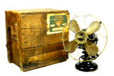 """12"""" Western Electric """"Hawthorn"""" Double Lever Oscillator with Original Wood Crate"""
