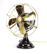 Professionally Restored 1912 GE General Electric Kidney Desk Fan