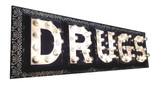 """Federal Electric """"Drugs"""" Display Sign"""