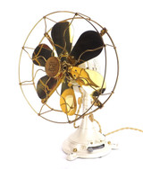 Circa 1920's Safety Car Company 32v DC Desk Fan