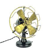 """Circa 1910 Robbins & Myers R & M 8"""" Open Commutator Desk Fan"""
