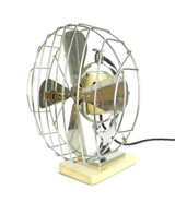 "Circa 1930's Elcon 10"" Modernistic Desk Fan"