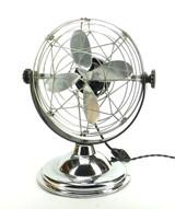 "Beautiful 1940's Air Beam (Roto Beam) 10"" Art Deco Desk Fan Chrome"