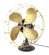 """Circa 1908 16"""" Emerson Type 1820 Ornate Base Desk Fan"""