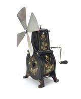 Late 1800's Clockwork Spring Mechanical Victorian Table Fan