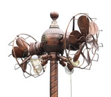 Westinghouse Column Gyro Fan Restored Brushed Copper