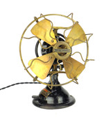 "Circa 1915 8"" Menominee Staghorn Oscillating Desk Fan"