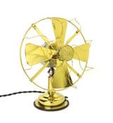 "Circa 1913 Diehl 8"" All Brass Desk Fan"