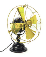 """Circa 1909 12"""" Adams Bagnall Jandus Wire Mount Desk Fan Restored"""