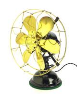 """Circa 1910 12"""" Robbins & Myers 14040 6 Blade Original Condition Desk Fan"""
