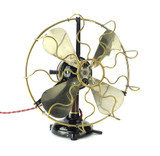 "Circa 1920's 9"" Marelli Italian Desk Fan Restored"
