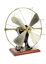 1898 Knapp Type D Bipolar Battery Fan Complete And All Original