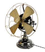 "Circa 1907 12"" GE Pancake Desk Fan Restored"