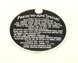 "Limited Production Fresh' Nd Aire ""Special"" Hang Tag"