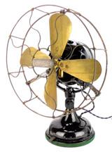 """Circa 1908 Century S4 12"""" Desk Fan All Original Condition"""