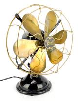 """Circa 1915 12"""" Diehl """"Transitional"""" Oscillating 6 Blade Desk Fan"""