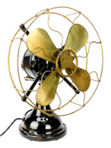 "Circa 1913 12"" R&M Robbins & Myers All Original Oscillating Desk Fan"