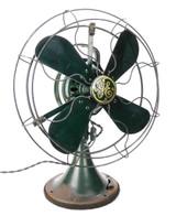 Circa 1934 GE Trumpet Bell Oscillator Desk Fan from Alms Hotel Cincinnati Ohio