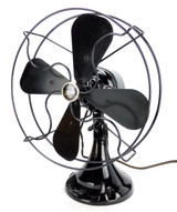 "Circa 1927 Emerson Northwind Model 450 10"" AC or DC Desk Fan Incredible  Original Condition"