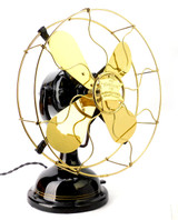 "Circa 1910 12"" Robbins & Myers R&M List No. 1404 Desk Fan"