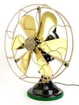 """Circa 1921 12"""" GE Brass Bell Oscillator Rare 6 Blade Example"""