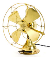 "Circa 1911 8"" All Brass Emerson Trojan Desk Fan"