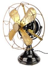 "Circa 1912 12"" FWEW Fort Wayne Electric Works ""Kidney"" Oscillating Desk Fan"