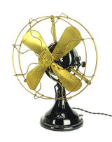"All Original Finish GE 12"" BMY Big Motor Yoke  Desk Fan"