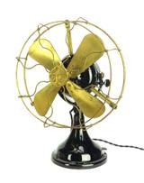 "*All Original Finish GE 12"" BMY Big Motor Yoke  Desk Fan"
