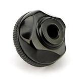 Vintage Black Bakelite Four Star Design Fluted Collar Attachment Electric Plug