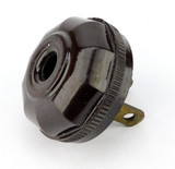 Vintage Brown Leviton Decagon Cap Fluted With Wide Smooth Collar