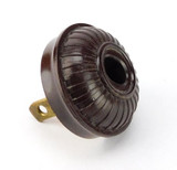 Vintage GE Brown Bakelite Wide Fluted Cap Smooth Collar Attachment Electric Plug