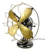 "Beautiful Patina All Original 12"" 4 Blade Westinghouse Tank Motor Desk Fan"
