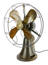 Circa 1920 GE Coin Operated Desk Fan Fully Operational
