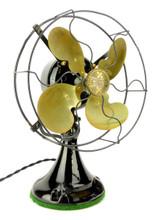 """1922 Emerson Type 29645 9"""" Oscillating Desk Fan All Original Condition"""