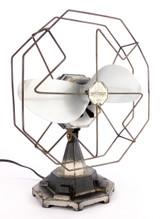 Circa 1930's Art Deco Modernist Desk Fan Designed By Edward Preston