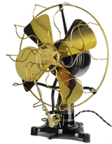 "Circa 1907 Robbins & Myers DC 12"" Lollipop Oscillating Fan Restored"