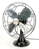 "Circa 1935 12"" Delco Oscillating Desk Fan Original Condition"