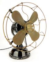 """Circa 1910 12"""" Robbins & Myers R&M List 1404 Desk Fan All Original"""