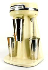 Circa 1950's Hamilton Beach Model 40 DM 3 Head Milkshake Maker Ivory