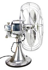 """Circa 1934 Rare 12"""" GE All Chrome 49x491 Oscillating Desk Fan"""